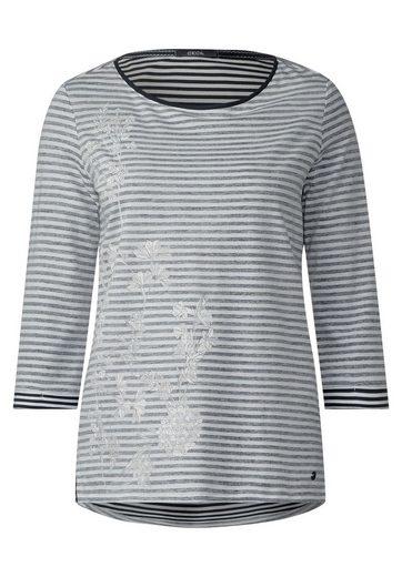 CECIL Streifen-Shirt mit Print