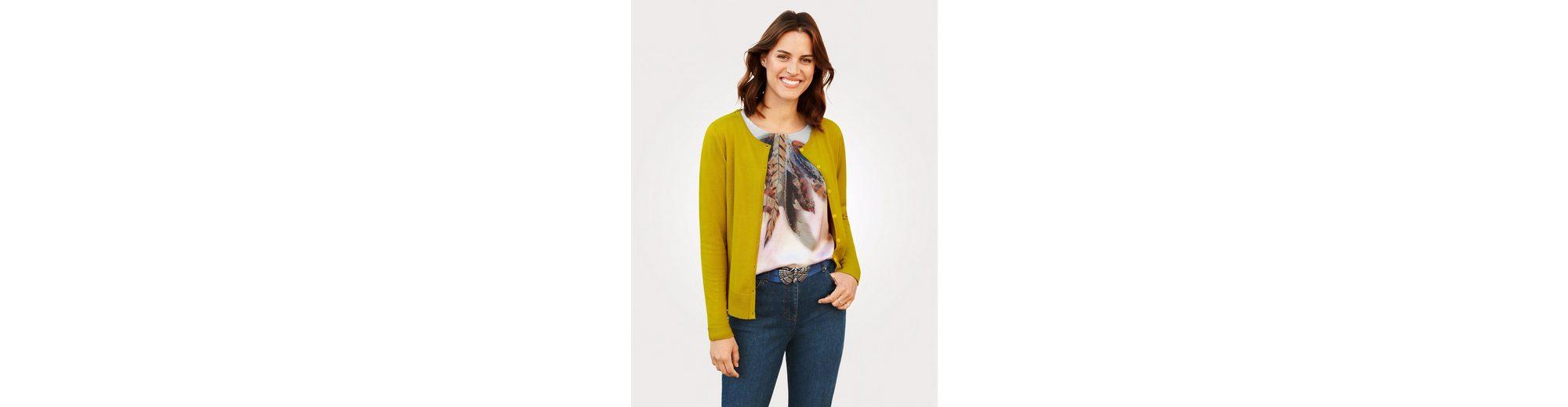Mona Cardigan mit Rückteil aus Spitze Qualität Frei Versandstelle Verkaufsstelle EWQocN7lN