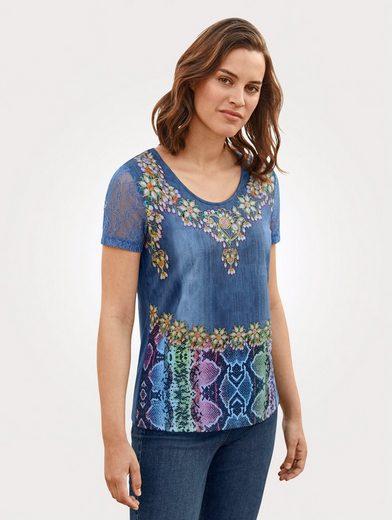 Mona Shirt mit einzigartigem Druckdessin