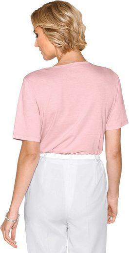 Classic Shirt mit Glitzersteinchen
