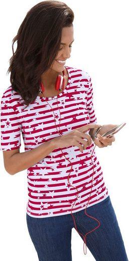 Collection L. Shirt mit Sternen- und Streifen-Dessin
