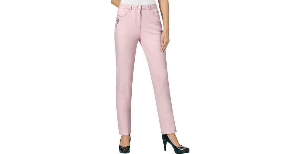 Verkauf Besten Platz Kaufen Sie Günstig Online Preis Lady Jeans mit kleine Vögelchen aus Glitzersteinchen Outlet Besten Großhandel gZw5T6IN9x