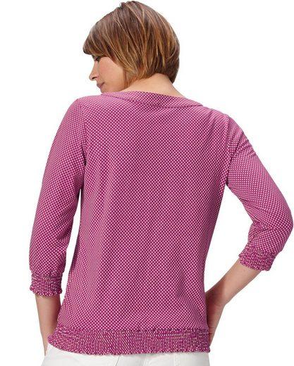 Classic Basics Shirt mit modischer Smok-Partie