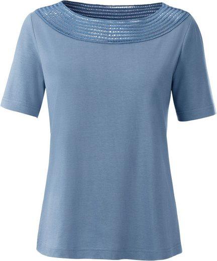 Collection L. Shirt mit Spitzendurchbruch
