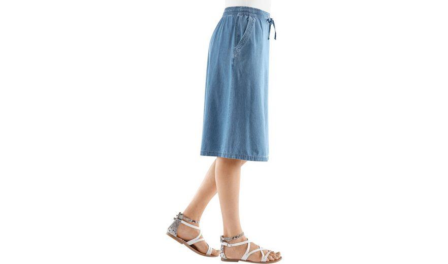 Classic Basics Rock in extraleichter Jeans-Qualität Schnelle Lieferung Günstig Online YELzrZPAn
