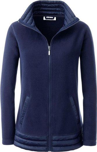 Collection L. Fleece-Jacke mit Umlegekragen