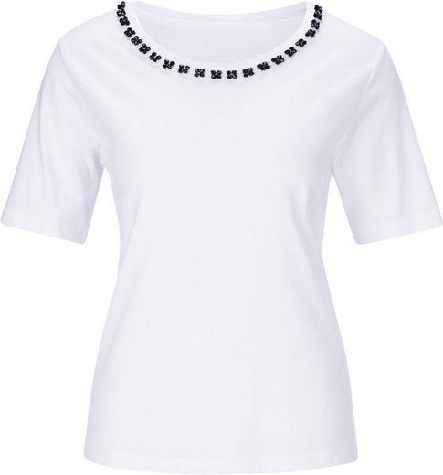 Classic Shirt mit Schmucksteinen