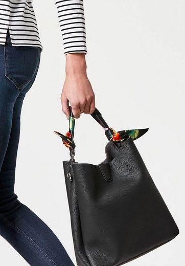 HALLHUBER Handtasche mit Satinhenkel