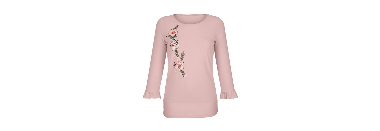 Dress In Shirt mit Blumenstickerei Neuester Günstiger Preis Verkauf Besuch FVuV3le
