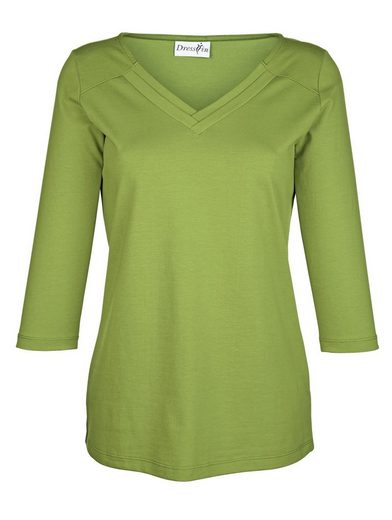 Dress In Shirt mit V-Ausschnitt