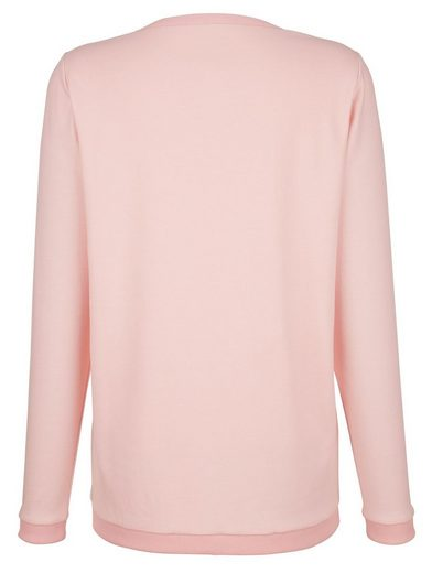Dress In Sweatshirt im Materialmix