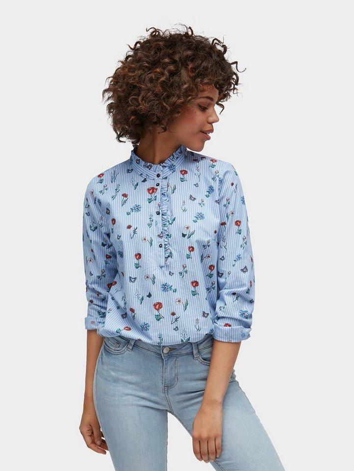 tom tailor denim klassische bluse gemusterte bluse online kaufen otto. Black Bedroom Furniture Sets. Home Design Ideas