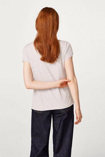 EDC BY ESPRIT Meliertes T-Shirt mit Rüschen