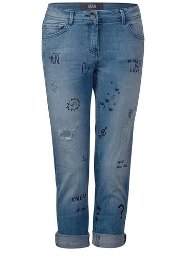 CECIL Wording-Denim Scarlett