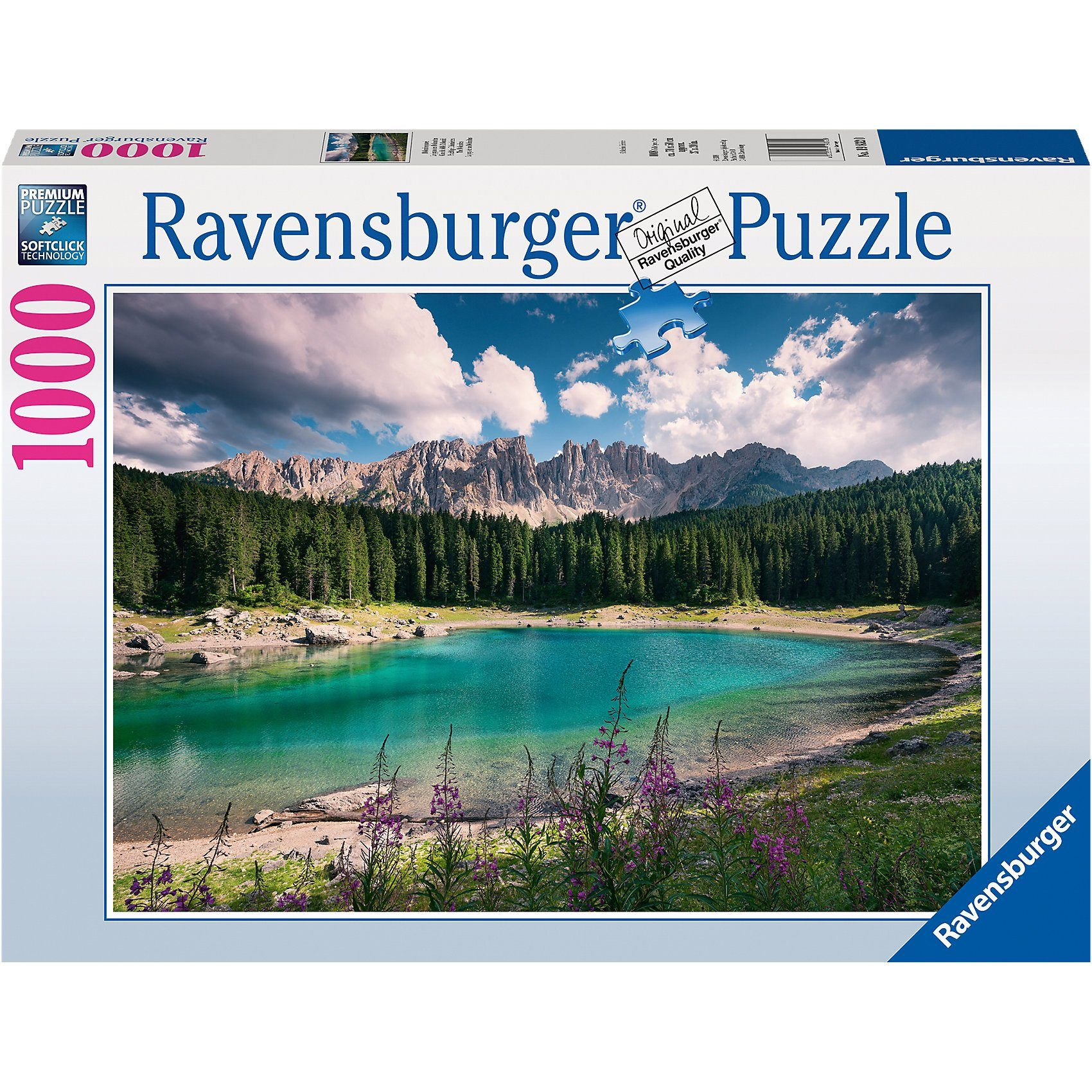 Ravensburger Puzzle 1000 Teile, 70x50 cm, Dolomitenjuwel