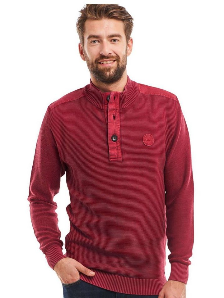 154fbce984 engbers Troyer-Pullover, Sowohl Knopf als auch Zip ...