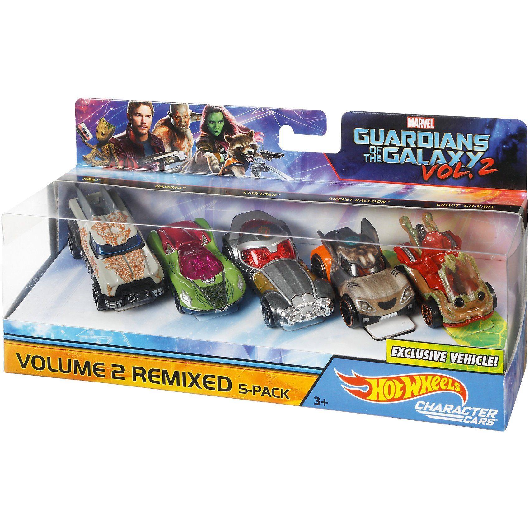 Mattel® Hot Wheels Marvel Character Car Guardians of Galaxy 5er-Pack