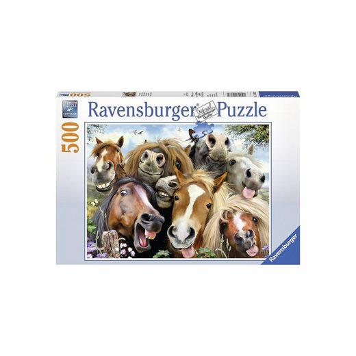 Ravensburger Puzzle 500 Teile, 49x36 cm, Pferde Selfie