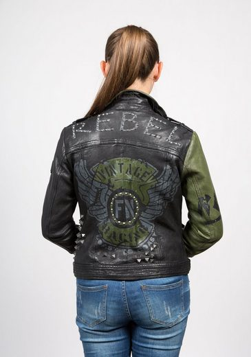 Freaky Nation Bikerjacke Rocking Angel