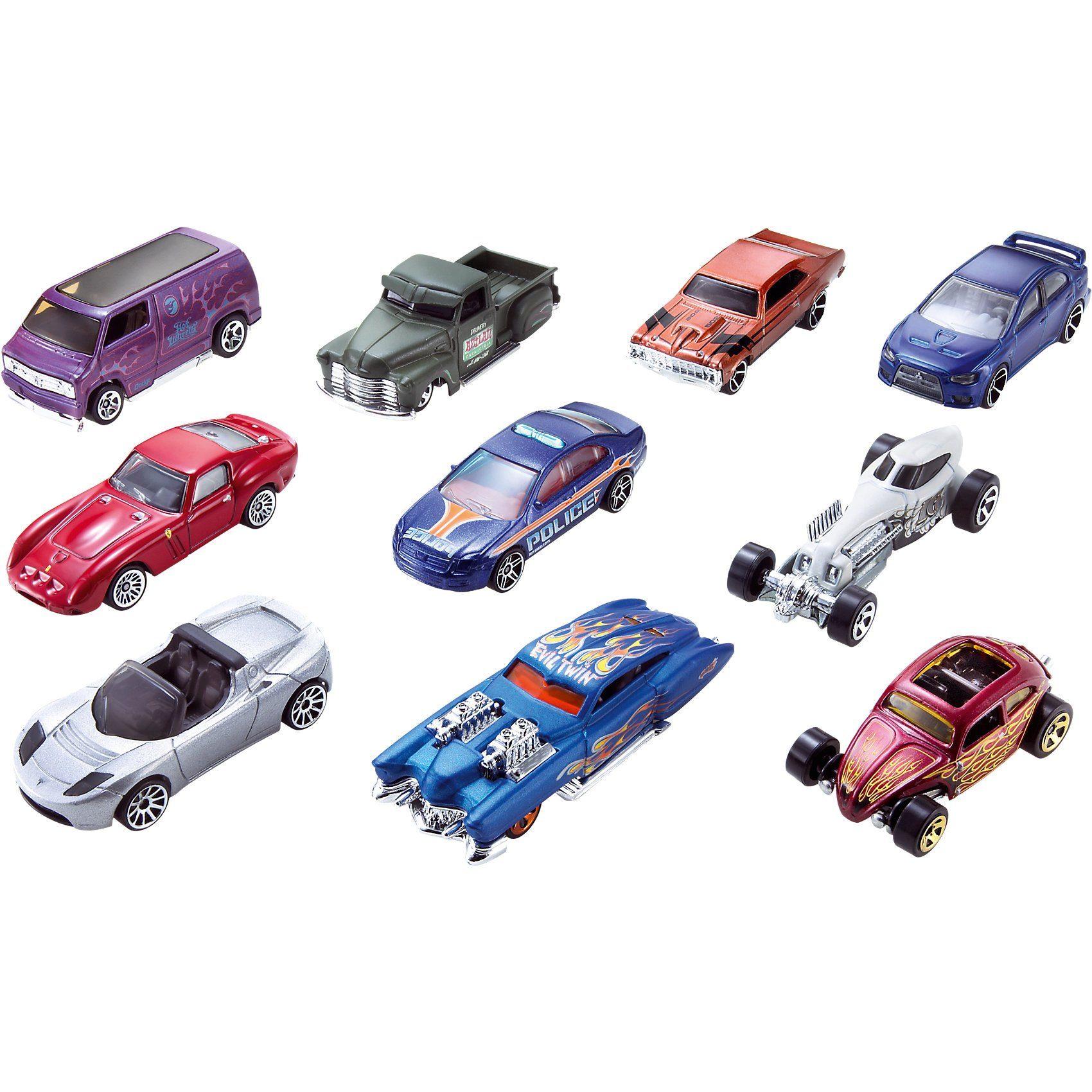 Mattel® HOT WHEELS 10er Geschenk-Set