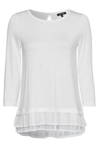 MORE&MORE Shirt mit Plissée-Saum