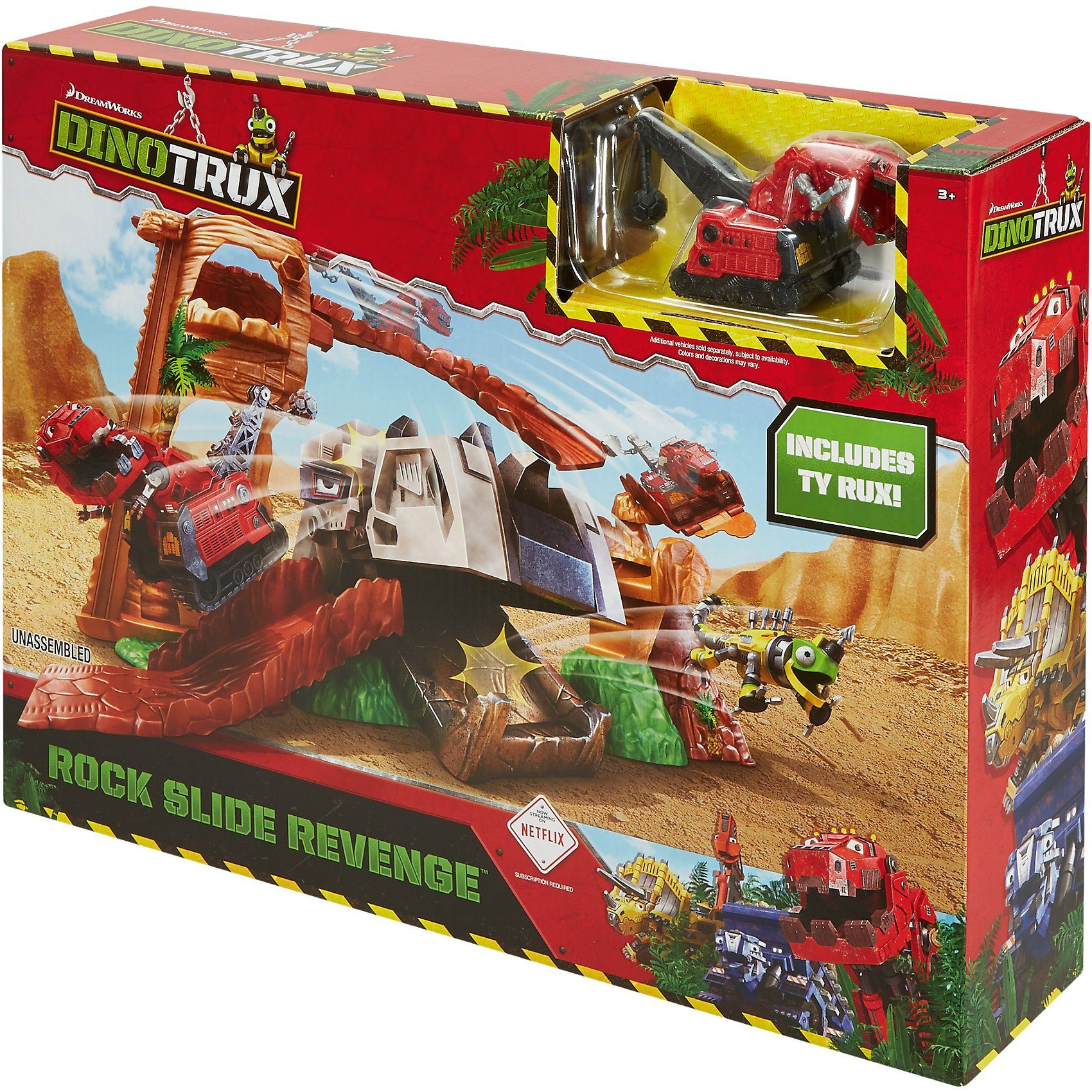 Mattel® Dinotrux T-Rux' Felsblock-Attacke Spielset