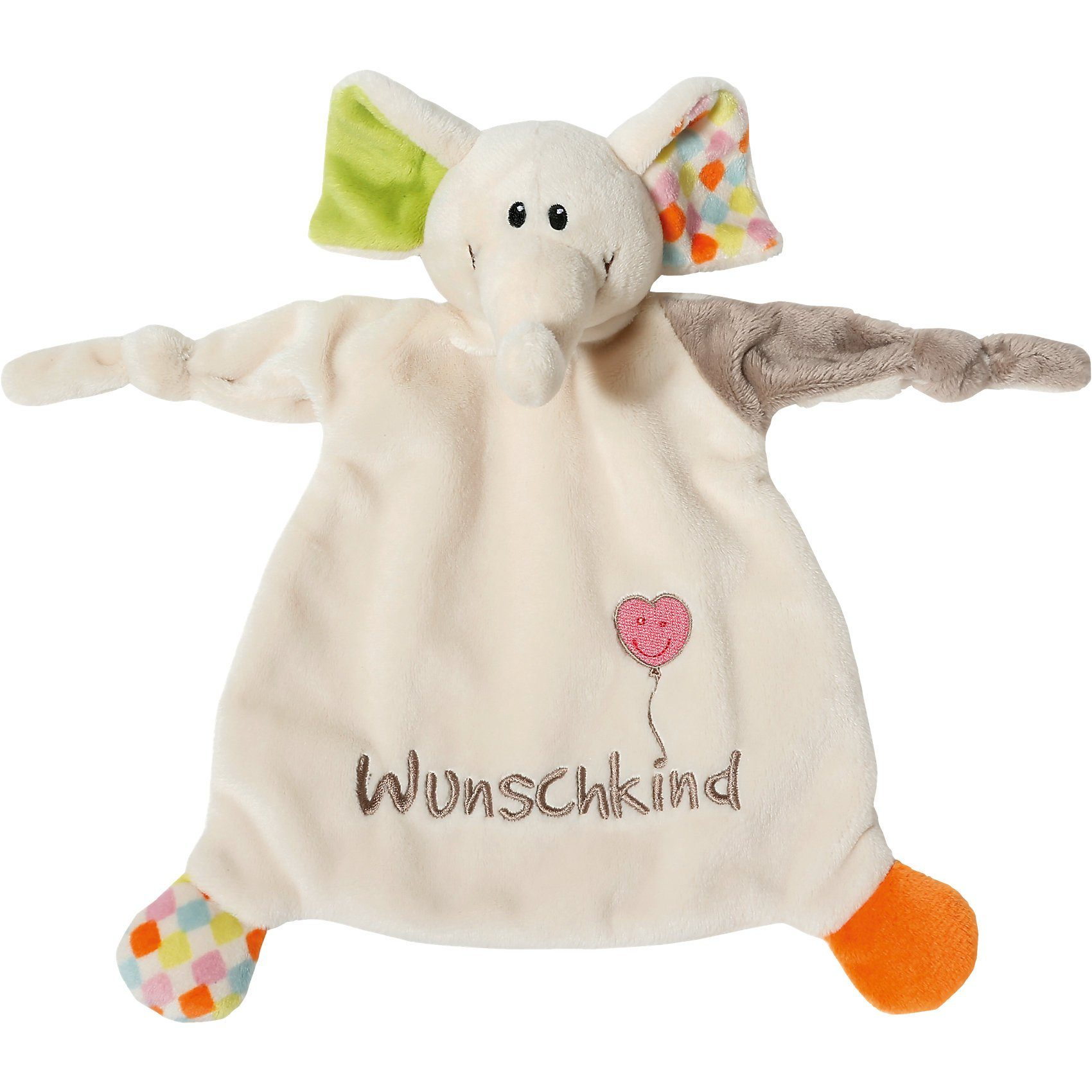 "Schmusetuch Elefant ""Wunschkind"" 25x25cm (40038)"
