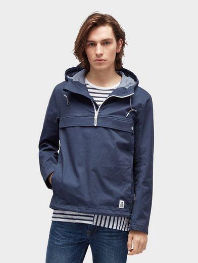 Tom Tailor Denim Anorak Jacke mit großer Fronttasche