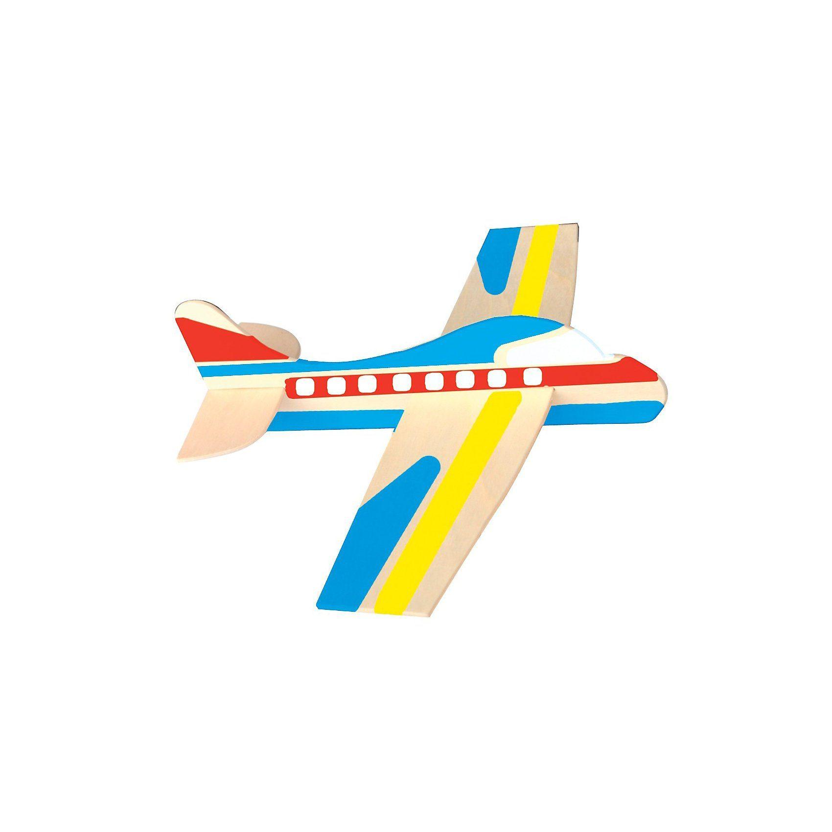 Playbox Holz-Modellflugzeuge zum Bemalen, 12 Stück