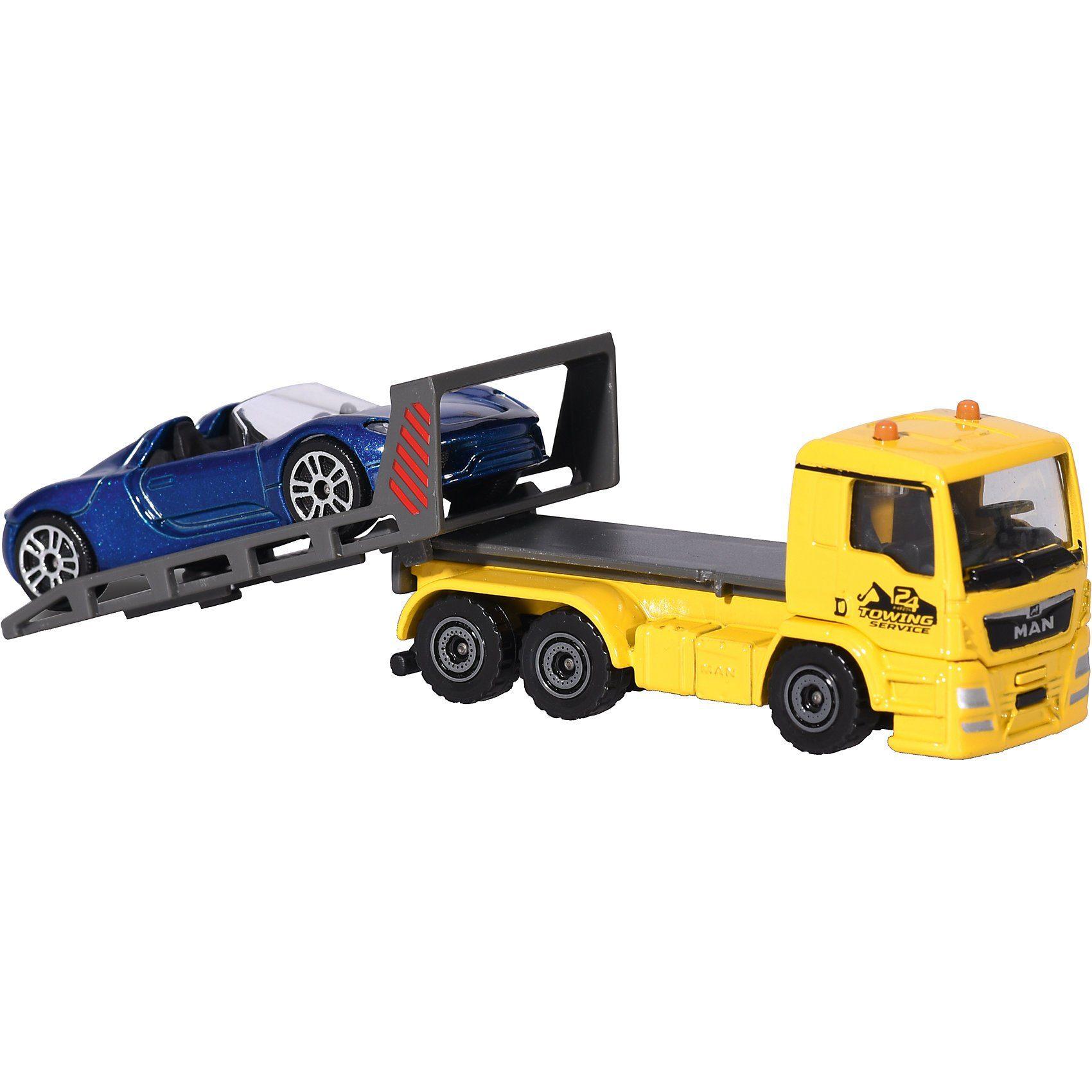 majORETTE City kleines Set MAN TGA Tow Truck