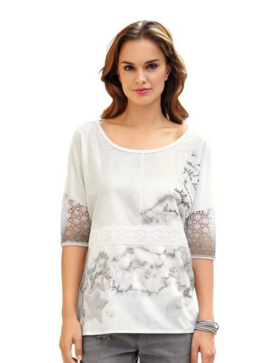 Alba Moda Shirt im modernen Materialmix
