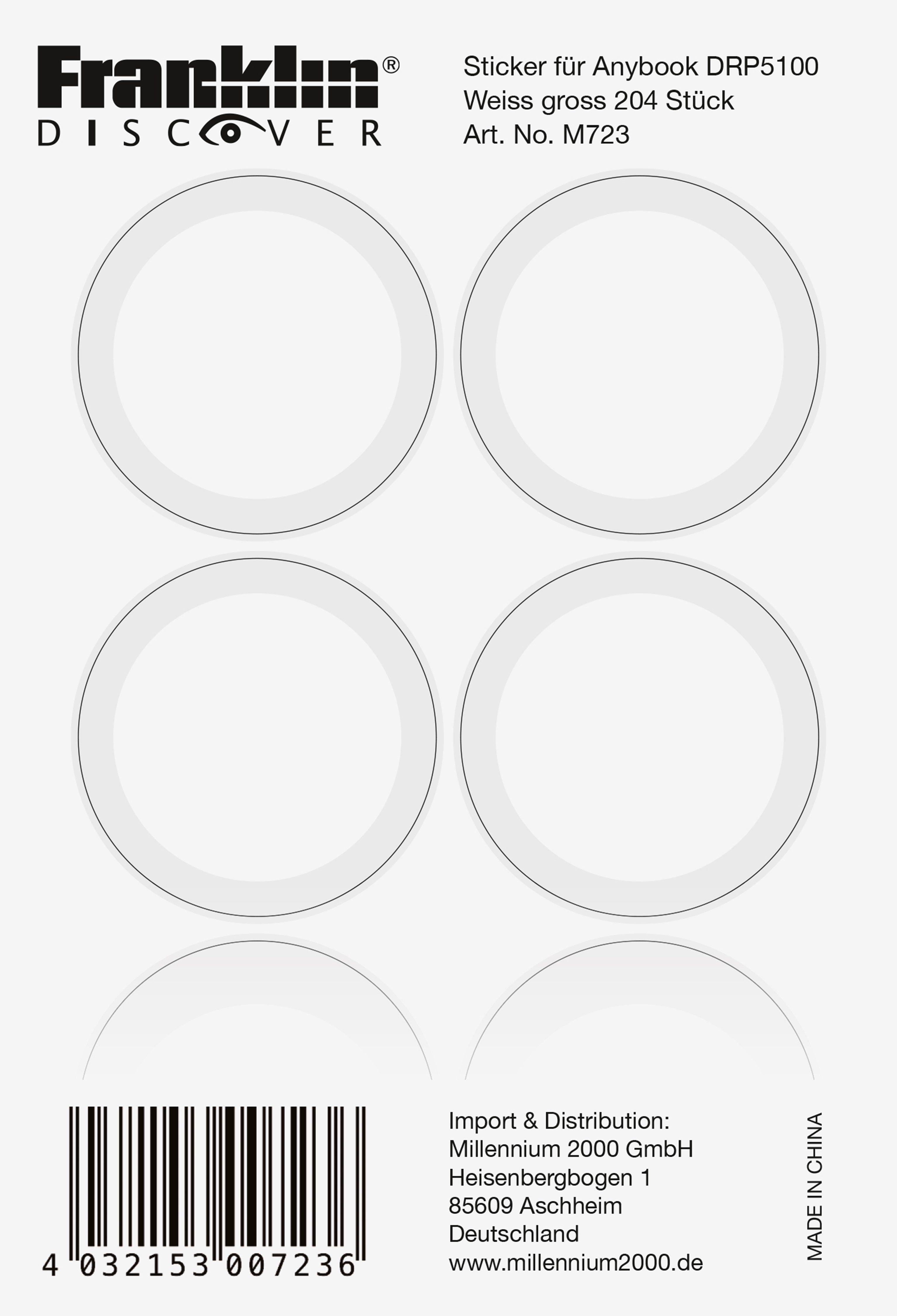 Franklin Aufkleber für den Franklin AnyBook Reader DRP5100 »AnyBook XXL-Sticker«