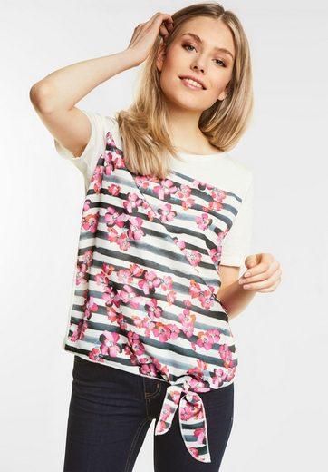 Street One Print Shirt mit Knoten