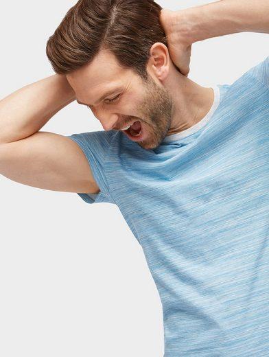 Tom Tailor T-Shirt T-Shirt mit feinem Streifenmuster