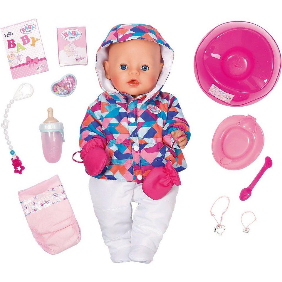 Zapf Creation 174 Exklusiv Baby Born 174 Babypuppe Im Winter