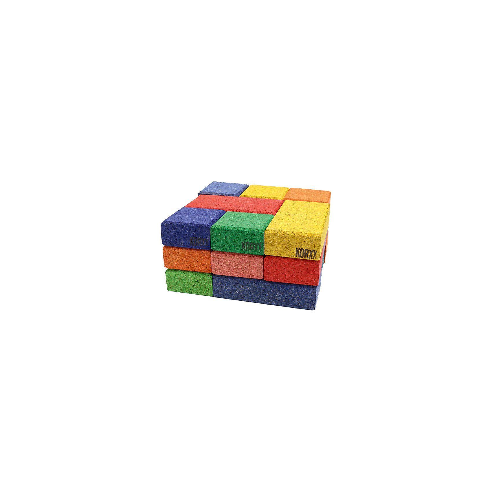 Korkbausteine Cuboid Mix Color, 19 Stk.