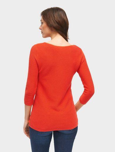 Tom Tailor Rundhalspullover strukturierter Sweater