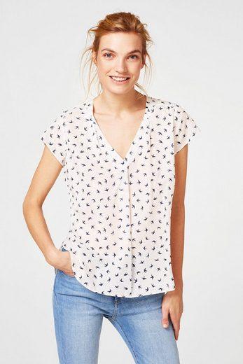 ESPRIT Leichte Bluse mit Schwalben-Print