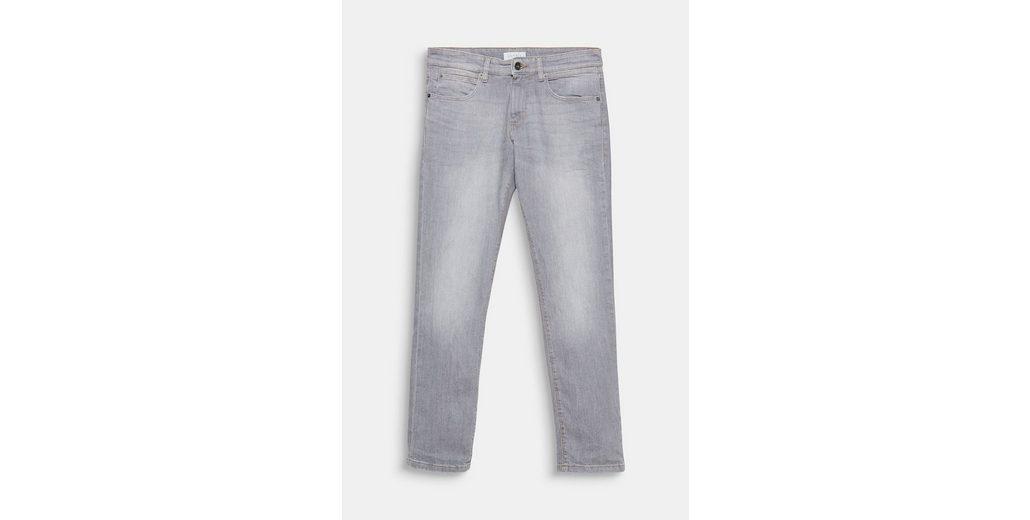 Auslasszwischenraum Store ESPRIT Stretch-Jeans mit leichter Used-Waschung Kaufen Billig povQ2Mmm