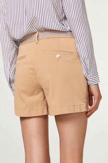 EDC BY ESPRIT Shorts mit Knopfleiste und Gürtel