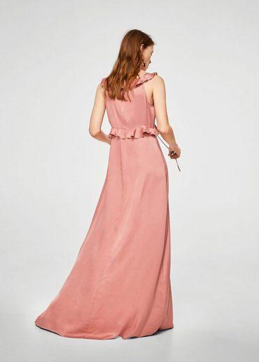 MANGO Langes Kleid mit Volants