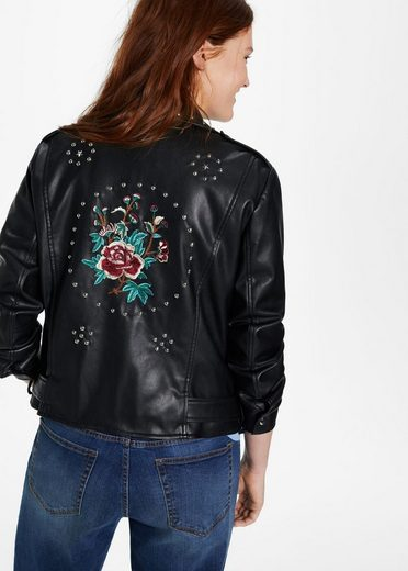 Violeta By Mango Embroidered Jacket With Rivets