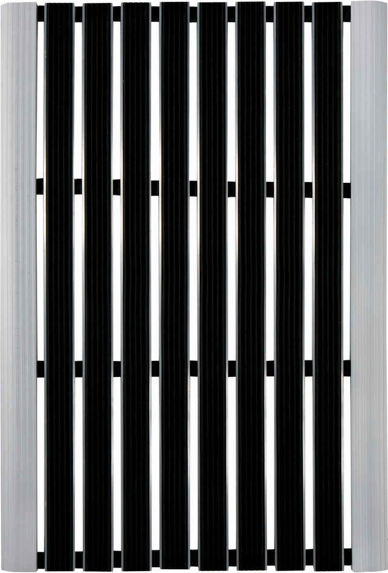Fußmatte »Alu-Türmatte Exclusive«, Andiamo, rechteckig, Höhe 10 mm, Schmutzfangmatte, In- und Outdoor geeignet