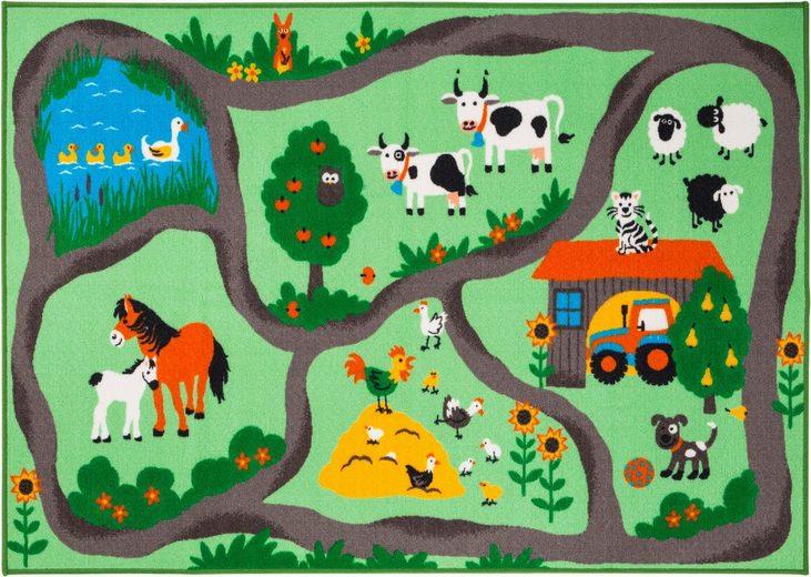 Kinderteppich »Bauernhof«, Andiamo, rechteckig, Höhe 6 mm