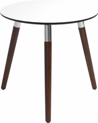 Stressless® Beistelltisch »Style«, mit braunen Holzbeinen, Tischplatte in 3 Farben, rund