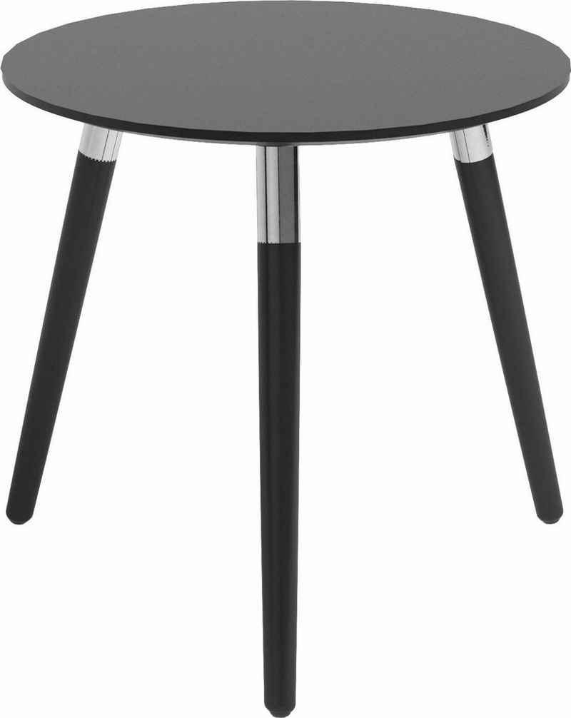 Stressless® Beistelltisch »Style«, mit schwarzen Holzbeinen, Tischplatte in 3 Farben, rund