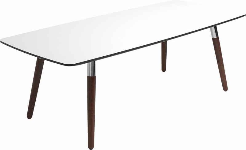 Stressless® Couchtisch »Style«, mit braunen Holzbeinen, Tischplatte in 3 Farben, rechteckig