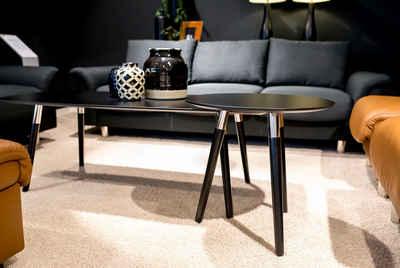 Stressless® Couchtisch »Style«, mit schwarzen Holzbeinen, Tischplatte in 3 Farben, rechteckig