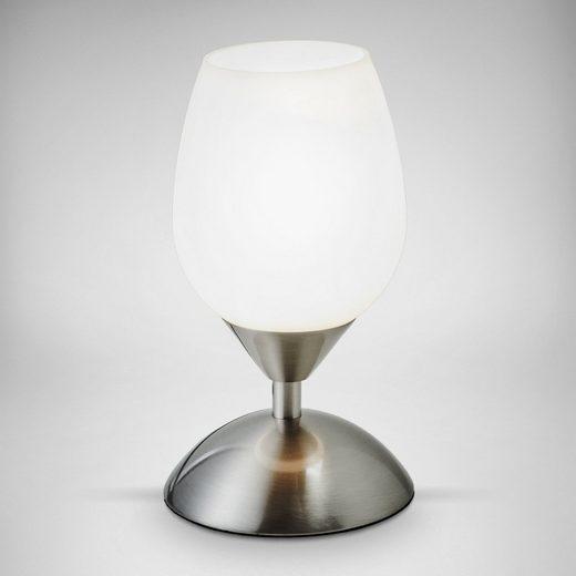 B.K.Licht Tischleuchte, Touchlampe dimmbar Nachttisch-Lampe Schreibtischlampe Wohnzimmerlampen E14