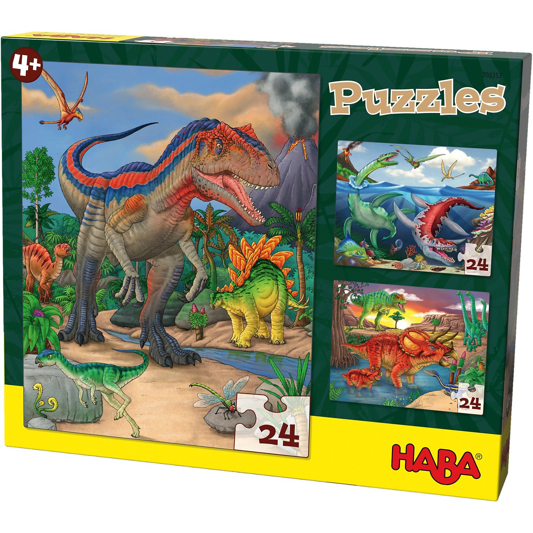 Haba Puzzles - 3 x 24 Teile - Dinosaurier